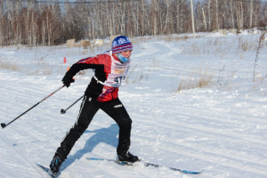 Ольга Позднякова лыжня